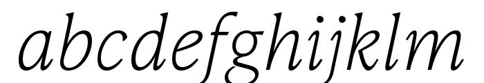 IvyPresto Text Thin Italic Font LOWERCASE