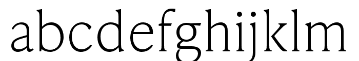 IvyPresto Text Thin Font LOWERCASE