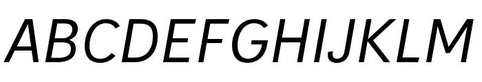 IvyStyle Sans Italic Font UPPERCASE