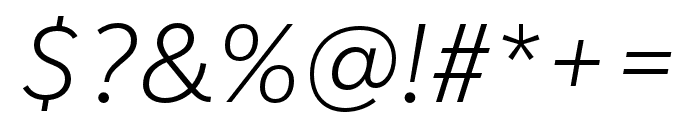 IvyStyle Sans Light Italic Font OTHER CHARS