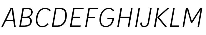 IvyStyle Sans Light Italic Font UPPERCASE