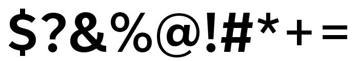 IvyStyle Sans SemiBold Font OTHER CHARS
