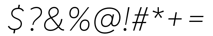 IvyStyle Sans Thin Italic Font OTHER CHARS