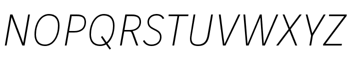 IvyStyle Sans Thin Italic Font UPPERCASE