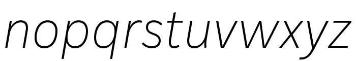 IvyStyle Sans Thin Italic Font LOWERCASE