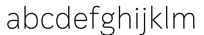 IvyStyle Sans Thin Font LOWERCASE