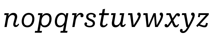 IvyStyle TW Italic Font LOWERCASE