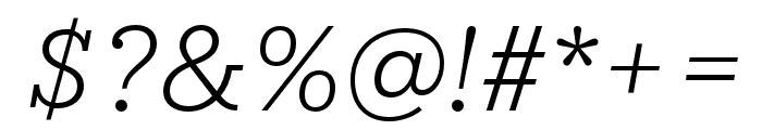 IvyStyle TW LightItalic Font OTHER CHARS