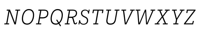 IvyStyle TW LightItalic Font UPPERCASE