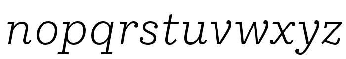 IvyStyle TW LightItalic Font LOWERCASE