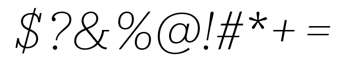 IvyStyle TW ThinItalic Font OTHER CHARS