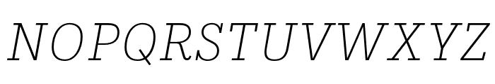 IvyStyle TW ThinItalic Font UPPERCASE