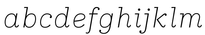 IvyStyle TW ThinItalic Font LOWERCASE