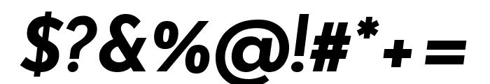 Josefin Sans Bold Italic Font OTHER CHARS