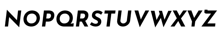 Josefin Sans Bold Italic Font UPPERCASE