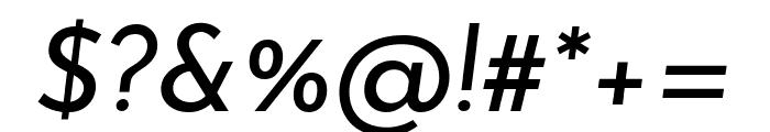 Josefin Sans Italic Font OTHER CHARS