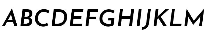 Josefin Sans SemiBold Italic Font UPPERCASE