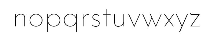 Josefin Sans Thin Font LOWERCASE