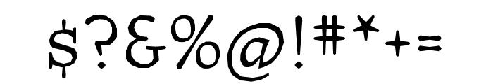 Journal OT Italic Font OTHER CHARS