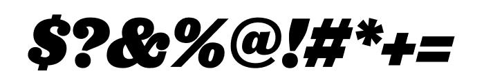 Jubilat Black Italic Font OTHER CHARS