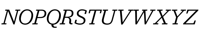 Jubilat Book Italic Font UPPERCASE