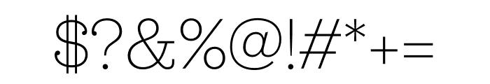 Jubilat ExtraLight Font OTHER CHARS