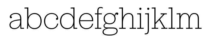 Jubilat ExtraLight Font LOWERCASE