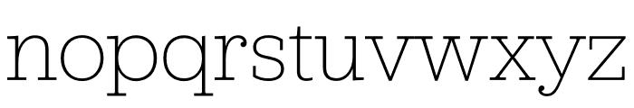 Jubilat Hairline Font LOWERCASE