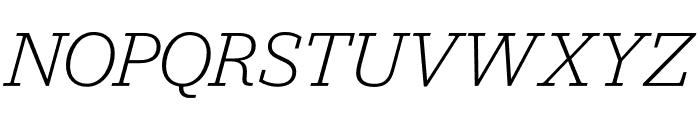 Jubilat Light Italic Font UPPERCASE