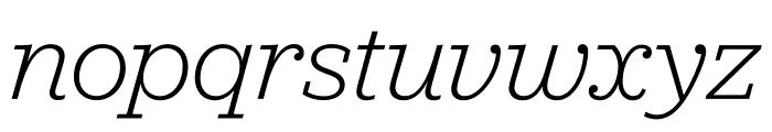 Jubilat Light Italic Font LOWERCASE