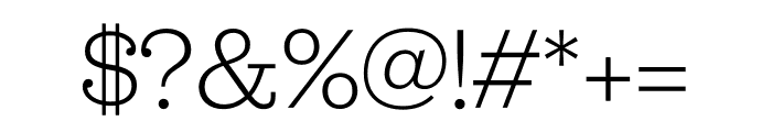 Jubilat Light Font OTHER CHARS