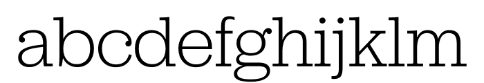 Jubilat Light Font LOWERCASE