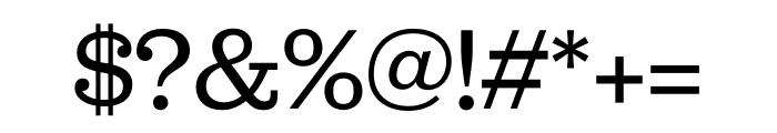 Jubilat Regular Font OTHER CHARS