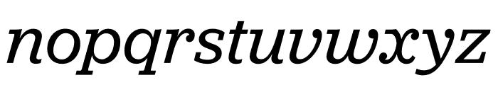 Jubilat Thin Italic Font LOWERCASE