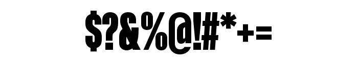 Kaneda Gothic Black Font OTHER CHARS