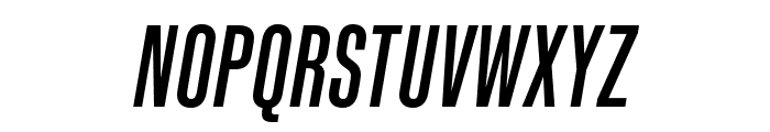 Kaneda Gothic Medium Italic Font UPPERCASE