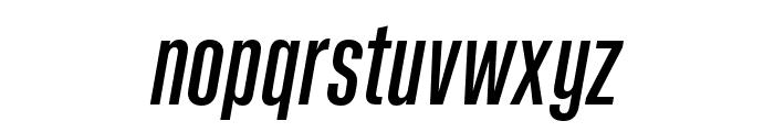 Kaneda Gothic Medium Italic Font LOWERCASE