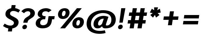 Karbid Pro Bold Italic Font OTHER CHARS
