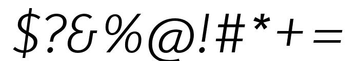 Karbid Pro Light Italic Font OTHER CHARS