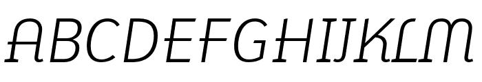 Karbid Pro Light Italic Font UPPERCASE