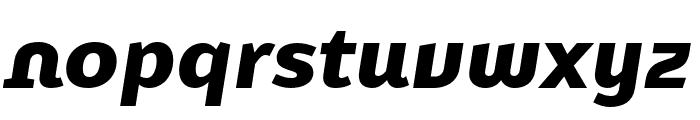 Karbid Text Pro Black Italic Font LOWERCASE