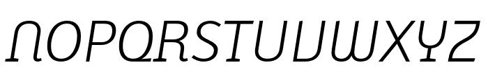 Karbid Text Pro Light Italic Font UPPERCASE