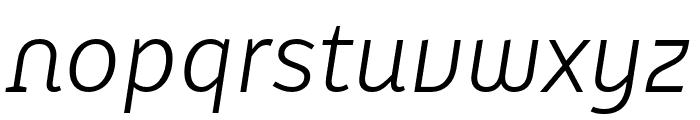 Karbid Text Pro Light Italic Font LOWERCASE