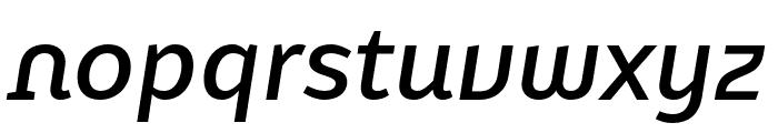 Karbid Text Pro Medium Italic Font LOWERCASE