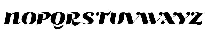 Kari Pro Wide Italic Font UPPERCASE
