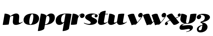 Kari Pro Wide Italic Font LOWERCASE