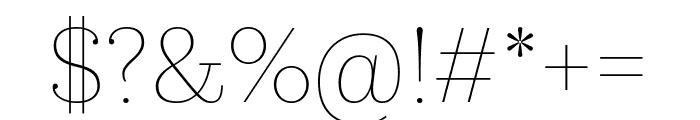 KazimirText Hairline Font OTHER CHARS