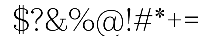 KazimirText Light Font OTHER CHARS