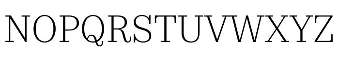 KazimirText Light Font UPPERCASE