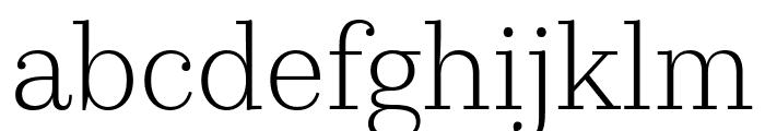 KazimirText Light Font LOWERCASE